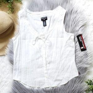 Polo Ralph Lauren Classic White Boho Top